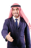 Homme d'affaires arabe d'isolement Photographie stock libre de droits