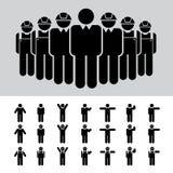 Homme d'affaires, architecte, ingénieur, travailleur, ensemble d'icône. illustration stock