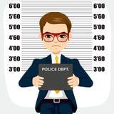 Homme d'affaires Arrested Mugshot illustration libre de droits