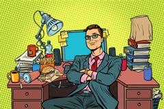 Homme d'affaires d'art de bruit, lieu de travail illustration de vecteur