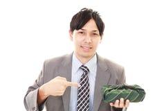 Homme d'affaires asiatique de sourire Photographie stock libre de droits
