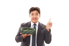 Homme d'affaires asiatique de sourire Photographie stock