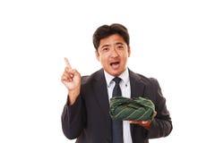 Homme d'affaires asiatique de sourire Images libres de droits
