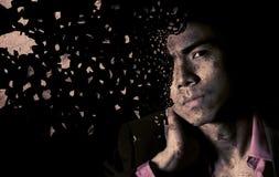 Homme d'affaires asiatique seul photographie stock libre de droits