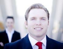 Homme d'affaires attirant Photographie stock libre de droits