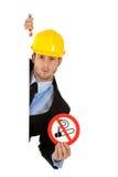 Homme d'affaires attirant, sig non-fumeurs. images libres de droits