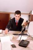 Homme d'affaires au bureau Image libre de droits