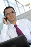 Homme d'affaires au téléphone Images libres de droits