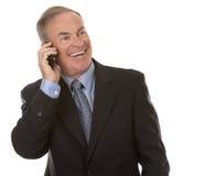 Homme d'affaires au téléphone Photos stock