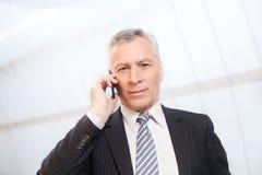 Homme d'affaires au téléphone. Photos stock