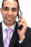 Homme d'affaires au téléphone photographie stock libre de droits