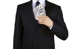 Homme d'affaires avec de l'argent Image stock