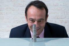 Homme d'affaires avec de l'argent Images stock