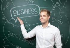 Homme d'affaires avec des aspirations photographie stock libre de droits