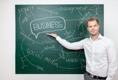 Homme d'affaires avec des aspirations image libre de droits