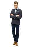 Homme d'affaires avec des bras pliés Images stock