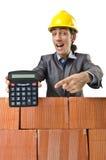 Homme d'affaires avec des briques Image libre de droits