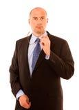Homme d'affaires avec des glaces Photos stock