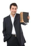 Homme d'affaires avec des livres photo libre de droits