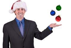 Homme d'affaires avec des ornements et Image stock