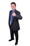 Homme d'affaires avec des pouces vers le haut Photo libre de droits