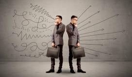 Homme d'affaires avec deux choix Image libre de droits