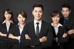 homme d'affaires avec l'équipe réussie d'affaires Photographie stock