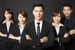 homme d'affaires avec l'équipe réussie d'affaires Images libres de droits