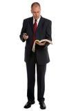 Homme d'affaires avec l'annuaire image libre de droits