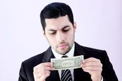 Homme d'affaires avec l'argent Photographie stock libre de droits