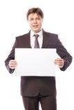 Homme d'affaires avec l'espace vide pour la publicité Images libres de droits