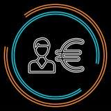 Homme d'affaires avec l'euro signe illustration de vecteur