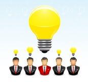 Homme d'affaires avec l'idée la plus lumineuse Image stock