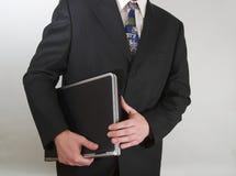 Homme d'affaires avec l'ordinateur portatif Photo libre de droits