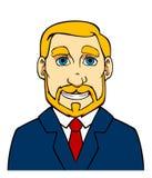 Homme d'affaires avec la barbe Photographie stock libre de droits