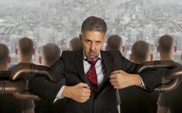 Homme d'affaires avec la chaîne énorme Photos libres de droits