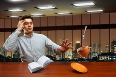 Homme d'affaires avec la magie Photo stock