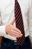Homme d'affaires avec la main ouverte Photographie stock libre de droits