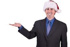 Homme d'affaires avec la main ouverte et Image stock
