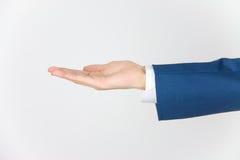 Homme d'affaires avec la main vide Photos stock