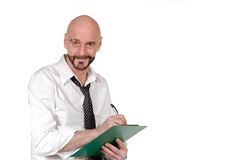 Homme d'affaires avec la planchette image libre de droits