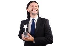 Homme d'affaires avec la récompense d'étoile Photo libre de droits