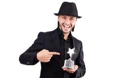Homme d'affaires avec la récompense d'étoile Images stock