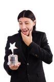 Homme d'affaires avec la récompense d'étoile Image stock