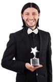 Homme d'affaires avec la récompense d'étoile Photographie stock libre de droits