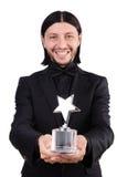 Homme d'affaires avec la récompense d'étoile Photo stock