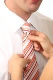 Homme d'affaires avec la relation étroite image libre de droits