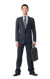 Homme d'affaires avec la serviette Image libre de droits