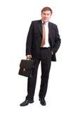 Homme d'affaires avec la serviette Photos libres de droits