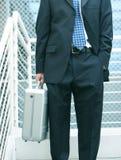 Homme d'affaires avec la serviette images libres de droits
